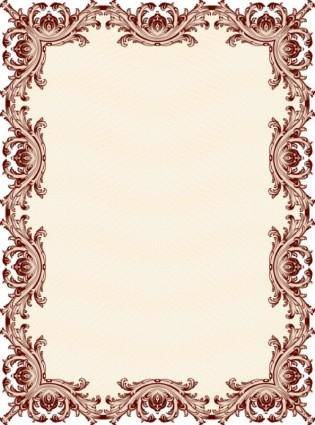 Classic pattern border security 01 vector