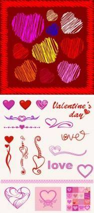 free vector Heartshaped pattern vector