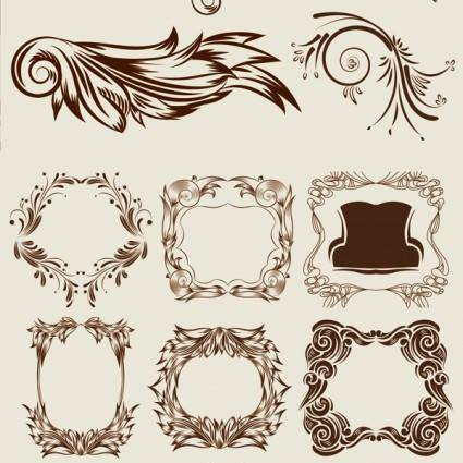 Graceful classical pattern vector