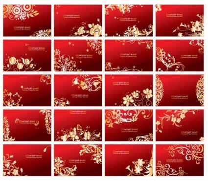 free vector Red card pattern vector