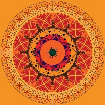 Classical circular pattern vector