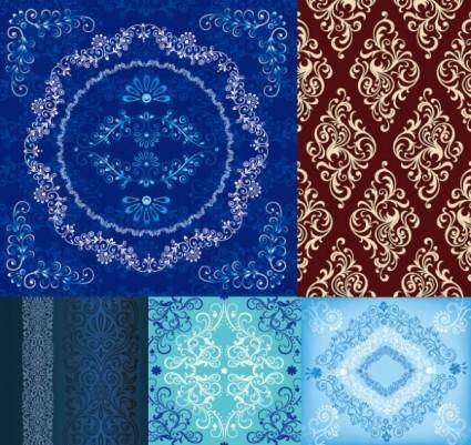 5 european pattern vector
