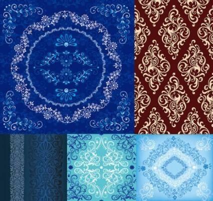 5 european pattern vector