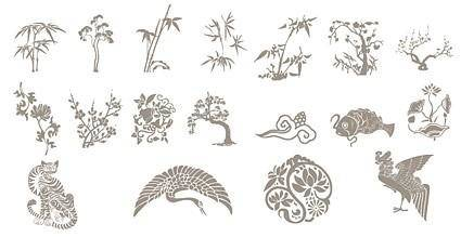 free vector Classical chinese auspicious pattern vector