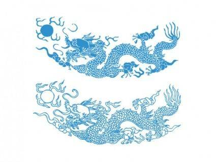 Dragon pattern vector