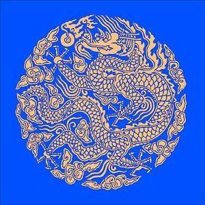 Golden dragon chinese classical circular pattern vector