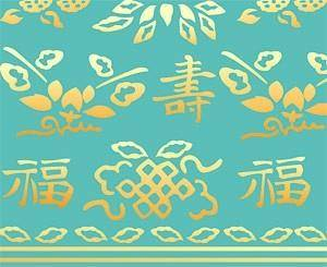 Classical chinese longevity patterns vector