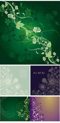 free vector Gorgeous elegant mysterious patterns vector