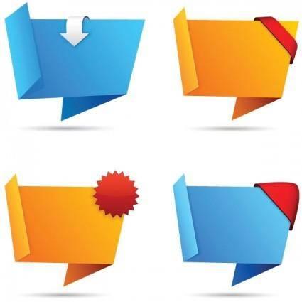 Origami decorative graphics vector 2