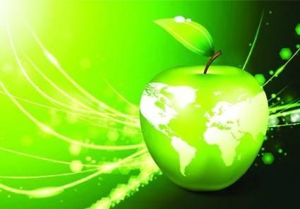 free vector Apple earth vector 5