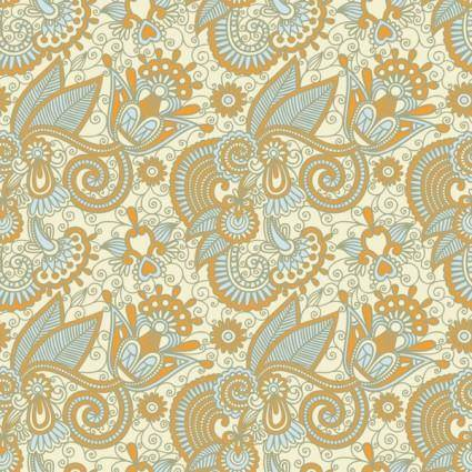 Beautiful handpainted pattern vector 2
