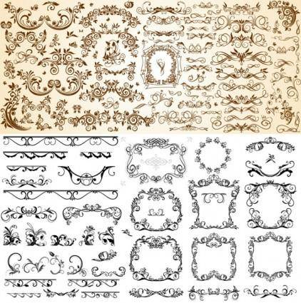 Very useful set of europeanstyle pattern vector
