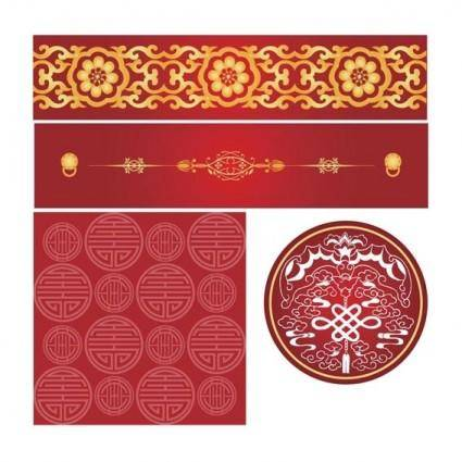 free vector Chinese style pattern vector