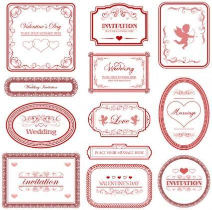 Europeanstyle love pattern border vector