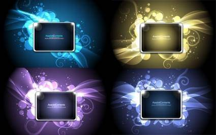 Cool glare pattern vector series 3