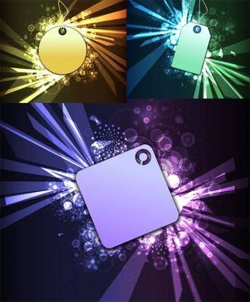 free vector Cool glare pattern vector series 4