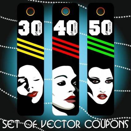 free vector Fashion label 01 vector