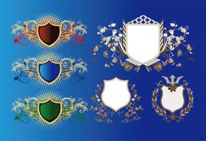 free vector European shield pattern vector