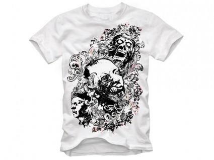 Trend pattern skull tshirt design vector