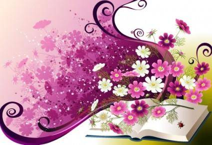 Trend of floral patterns vector 3