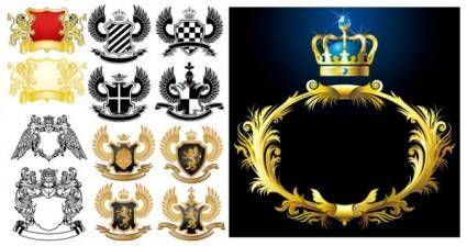 European royal pattern vector