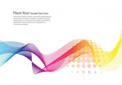 Brilliant dynamic flow line card 03 vector