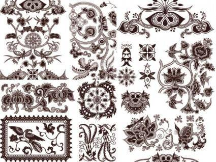 Exquisite classic traditional pattern vector