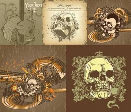 free vector Trend skull pattern vector