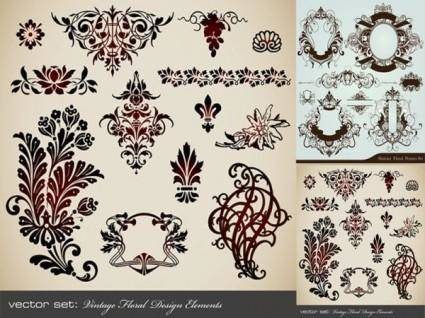 European classic retro pattern vector