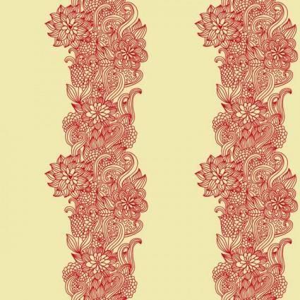 free vector Intensive handpainted pattern vector 1