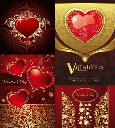 free vector Gorgeous card love the pattern vector