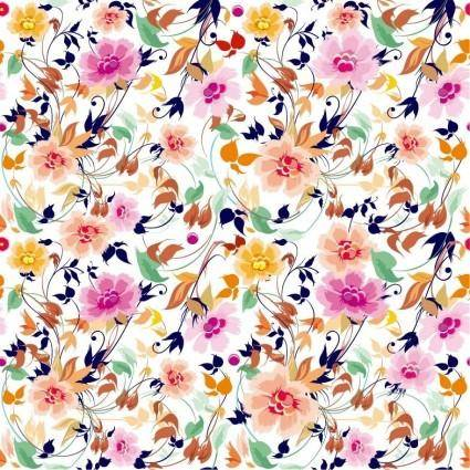 free vector Flowers Seamless Pattern Element Vector Background