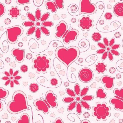 free vector Vector Love Pattern Background