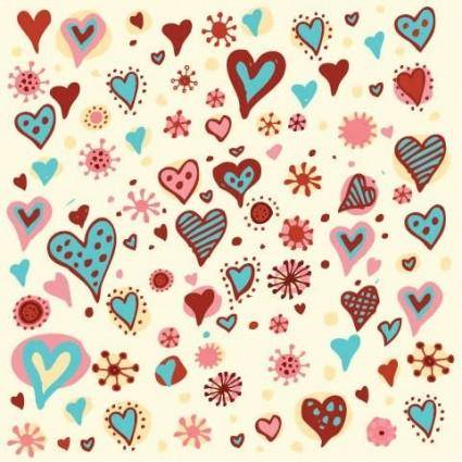 free vector Valentine's Day Hearts Pattern Vector Graphic