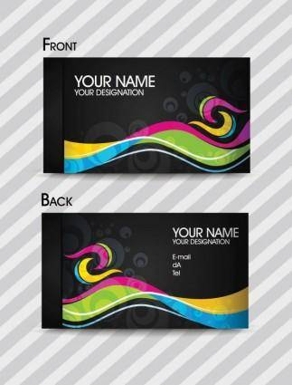 free vector Dynamic color business card templates 02 vector