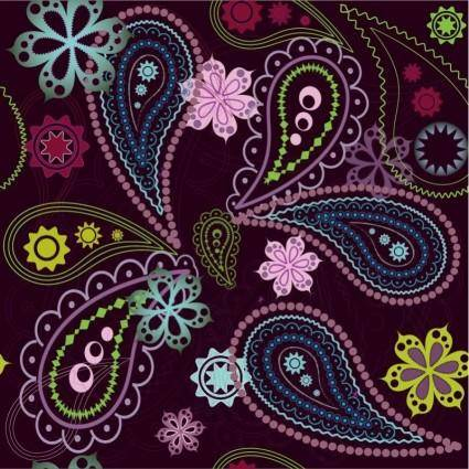 Free Vintage Flower Seamless Pattern Vector Graphic