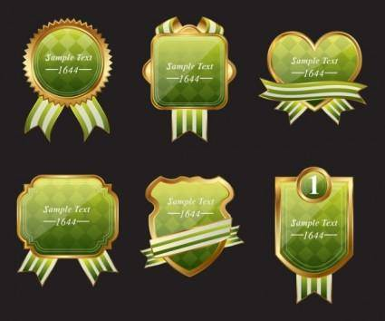 Exquisite europeanstyle badge labels 01 vector