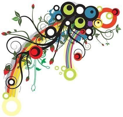 free vector Flower Color Trend Pattern Vector  Illustration