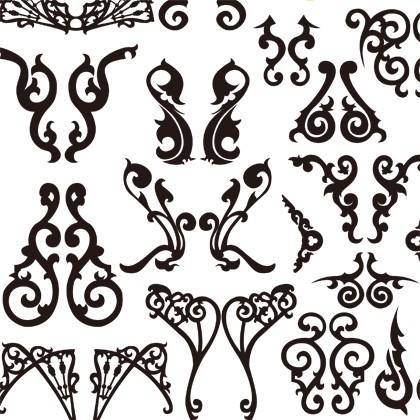 free vector Classical Decorative Patterns Free Vector Graphics