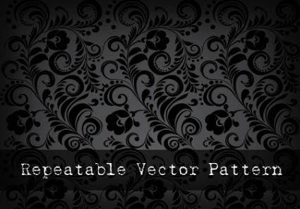 Repeatable Black Vector Pattern