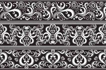 Seamless Lace Vector Patterns
