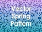 free vector Vector Spring Pattern