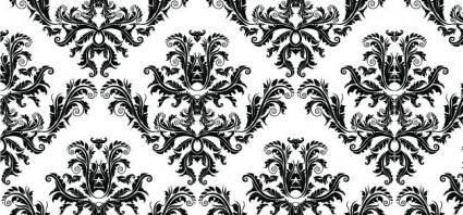 free vector Free Damask Seamless Pattern