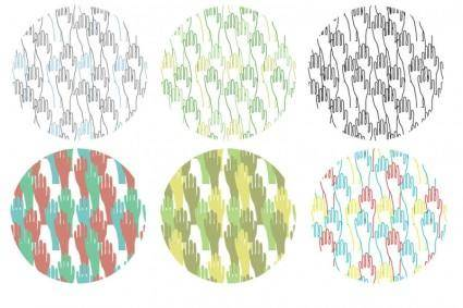 free vector Hand Drawn Seamless Hand Vector Patterns