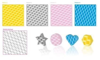free vector Kubick 3D Pattern