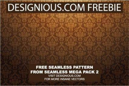free vector Baroque seamless pattern