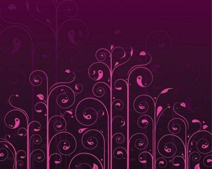Vector Swirls Flower Pattern