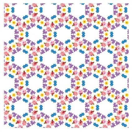 Vector pattern flowers