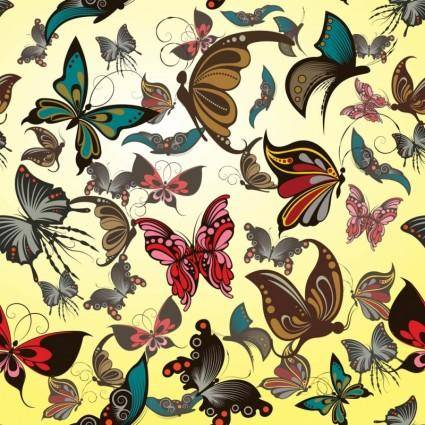 free vector Butterflies Vector Pattern