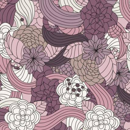free vector Romantic Flowers Vector Pattern